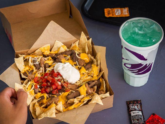 Taco Bell Introduces New 5 Steak Nachos Box Junk Food Snacks Food Drinks Dessert Food Platters