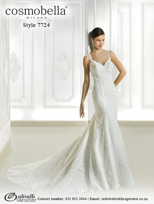 Cosmobella Gown style 7724. Call us on 021 913 1044 for more info. #WeddingGown #OlivelliCT #Cosmobella