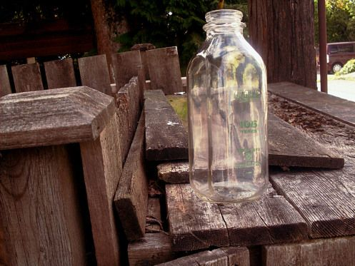 Avalon milk bottle in the wild