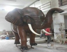 Large African Elephant Statue