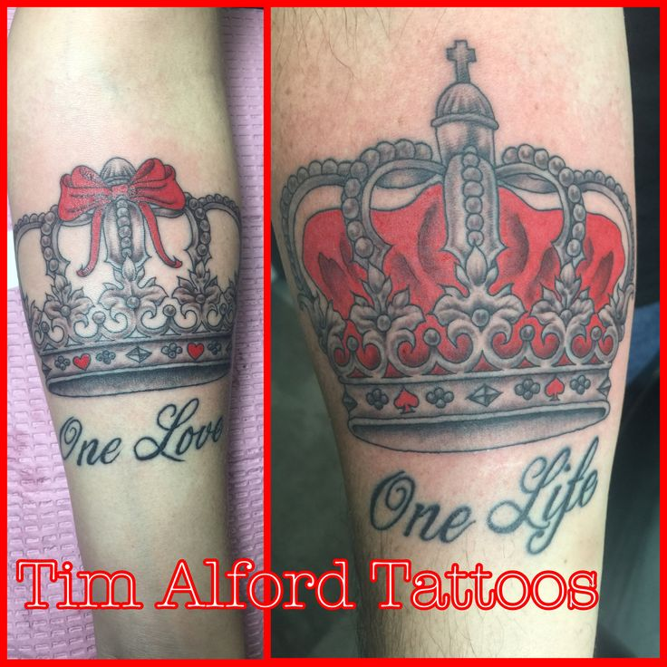 His and hers crown tattoos  Tim Alford Tattoos