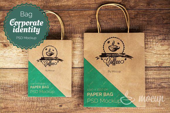"Shopping Bags PSD Mockup ""A"" - Product Mockups - 1"