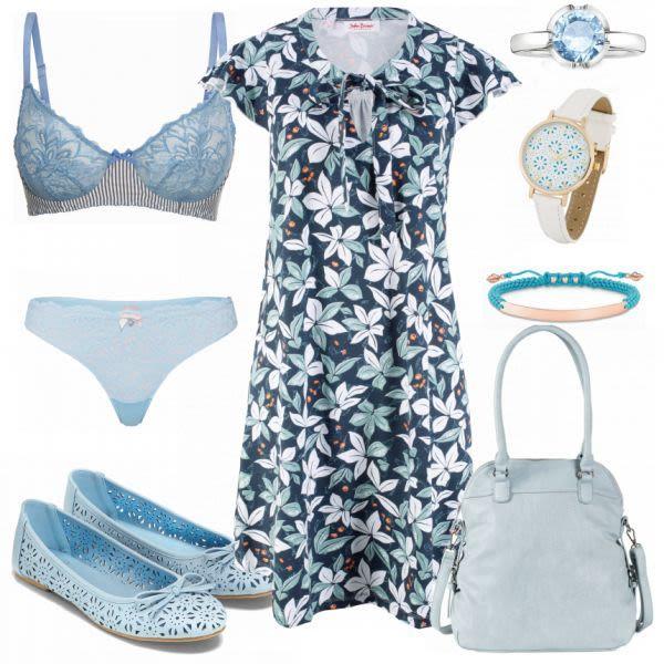 Sommer-Outfits: Baumwollenes Kleid bei FrauenOutfits.de #mode #damenmode #frauen…