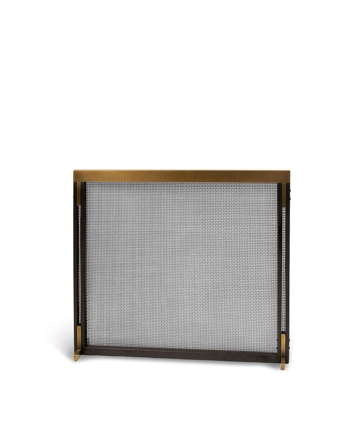Vancouver Fireplace Screen  Transitional, MidCentury  Modern, Metal, Fireplace Element by Tuell  Reynolds