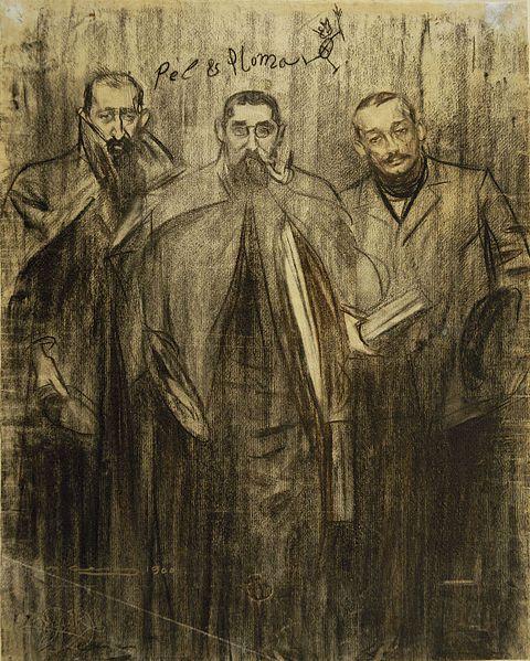 Ramon Casas - MNAC- Miquel Utrillo, Ramon Casas i Leandre Galceran