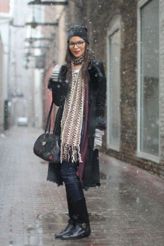 cute glasses and scarf
