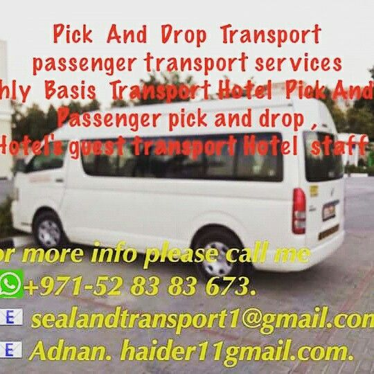 0528383673 052-8383673.  Transportation https://www.facebook.com/dubaitransportcompanyuae/ Hi Dear Madame & Sir , Sea Land Transport is based in Dubai and provides cars/ luxury buses/bus/minibus/hiace rental and hire services 15 seater van 30 seater pthroughout the UAE. With over 8 years of experience, Sea Land has a steady growth and is one of the better known Bus-Rental companies in Dubai. This is mainly due to the quality of service before and after booking. Dubai based better bus rentals…