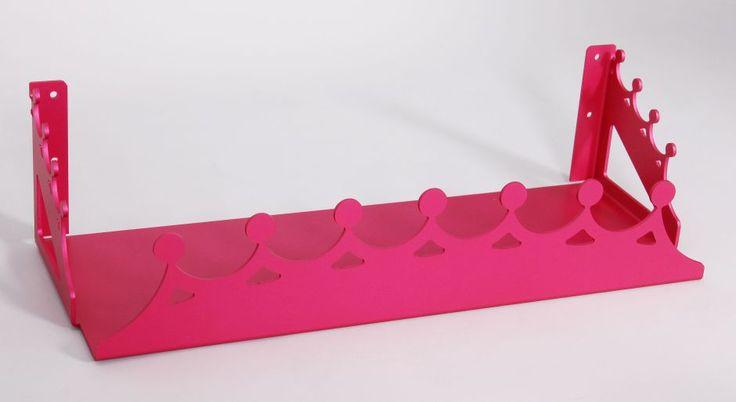 Tiara theme shelf - pink anodised finish