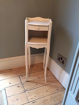 Slimline Bedside Cabinets shabby-chic-french-slim-bedside-table-with-drawer | home vision
