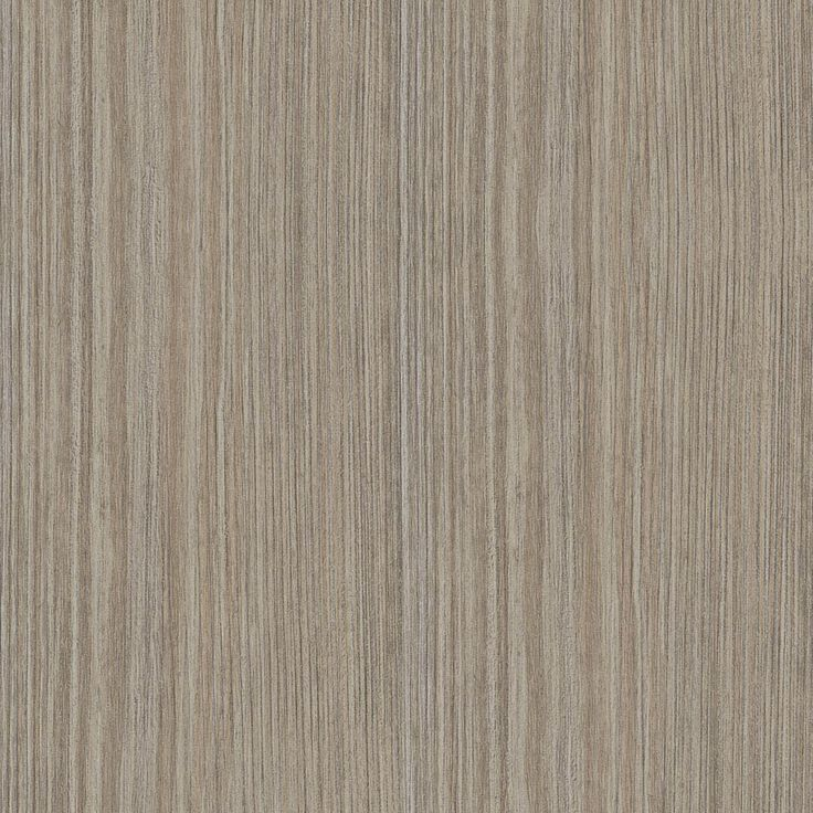 Tessuto Milan - Mid warm grey background with straight painterly random thickness lines in beige and mid-dark grey tones.