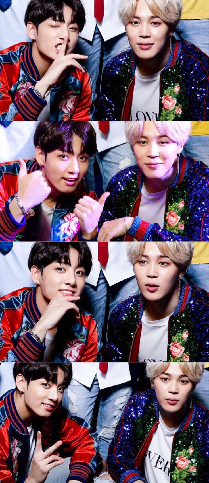 ☆〜JUNGKOOK x JIMIN // BTS at the 2017 American Music Awards Press Room at Microsoft Theater on November 19, 2017 in Los Angeles. ★彡