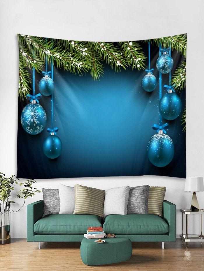 642c33af9df Christmas Snowflake Ball Print Tapestry Art Decoration -