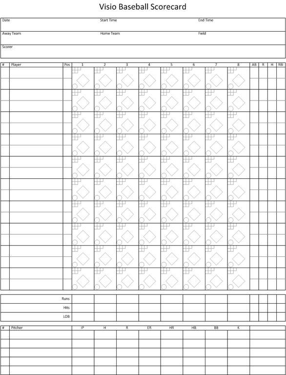 Excel Baseball Scorecard  CityEsporaCo