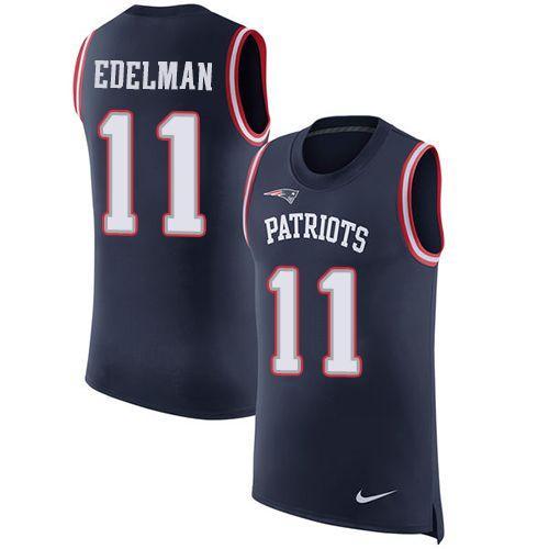 f2a0a94bb ... Nike Fashion NikePatriots 11 Julian Edelman Navy Blue Team Color Mens  Stitched NFL Limited ...
