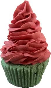 No you can't eat this!  Double Strawberry Bath Treat.  Icing makes a wonderully fluffy bubble bath and the Cake is a decadent Bath Bomb