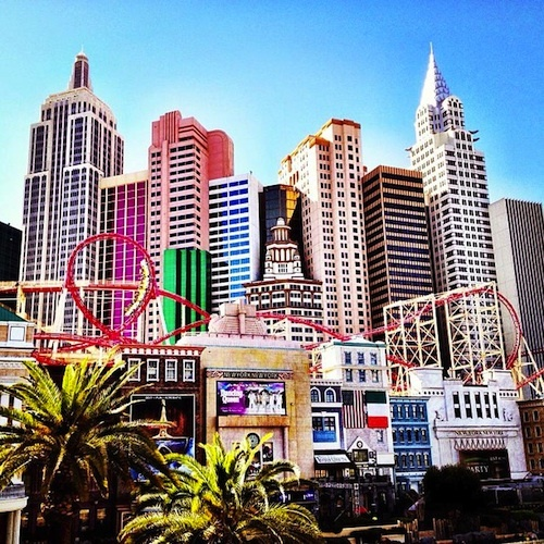 Mark this off my list. I rode the roller coaster at New York-New York hotel and casino in Las Vegas Nevada.
