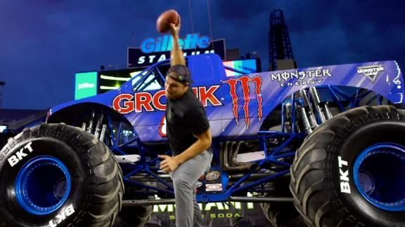 E:60 gets an exclusive look along with Rob Gronkowski as the monster truck he inspired is unveiled.
