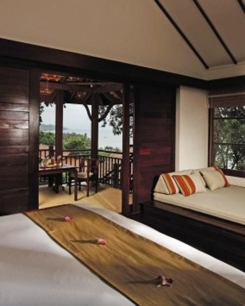 Napasai  ( Koh Samui, Thailand )  Lavish suites start at more than 600 square feet, like this Seaview Villa, which has a balcony. #Jetsetter
