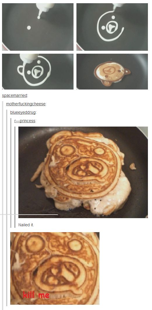 """Nailed it. I laughed so hard I cried. """"Striking terror into  breakfast since, well, this morning!"""""""