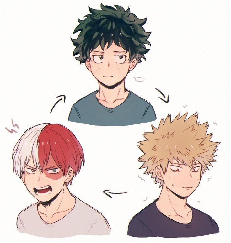 Boku no Hero Academia || Todoroki Shouto, Midoriya Izuku, Katsuki Bakugou (Cambio de Personalidad)