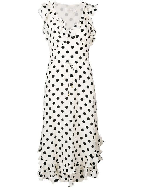 913702ded939 Zimmermann Polka Dot Print Dress - Farfetch | Fashion in 2019 ...
