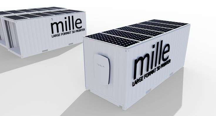 Mille 3D Printer Unveiled – Turns Shipping Containers into Large 3D Printers, Shredders & Extruders