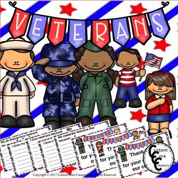 These Veteran's Day activities will help your students appreciate and remember the value of all of our veterans. Includes: *3 types of Veteran's Day Award Certificates *5 types of written responses for veterans *black and white versions of the Veteran's Day Certificates *black and white versions of the written responses for
