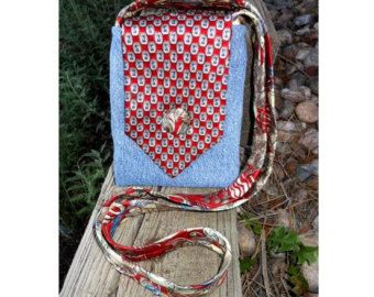 Upcycled Necktie Purse Bohemian Boho by SomeKindahWonderful