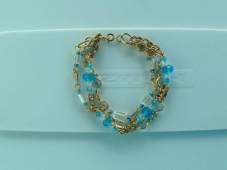 PLUS SIZE Crystal Blue bracelet  https://www.etsy.com/shop/KanDiArts