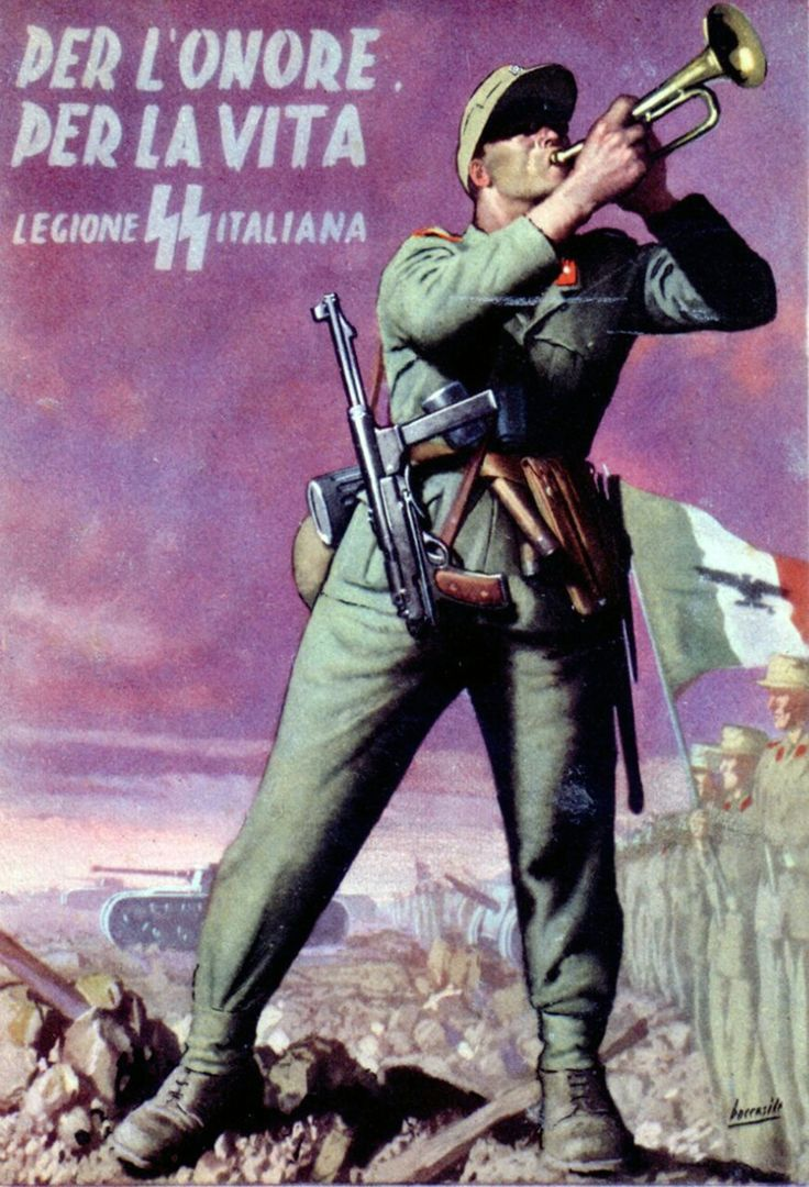 """""""For the honor For the life Italian SS Legion"""""""