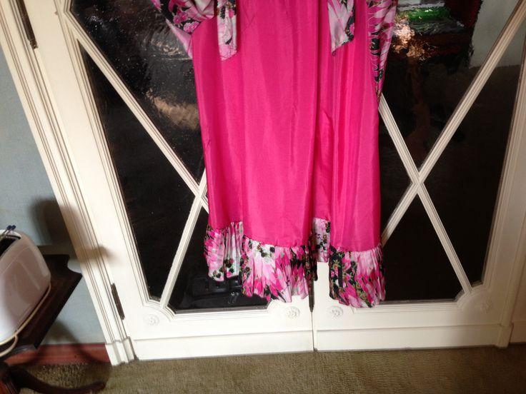 detail. #Underskirt pink silk #longdress