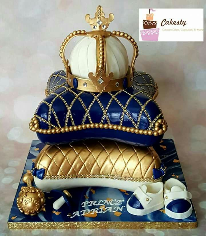 Cakesty: A cake made for a prince! Pillow top cakes. Crown.