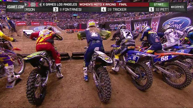 X Games LA 2013: WOMEN'S MOTO X RACING - FINAL // Motocross Videos on MPORA I wish....
