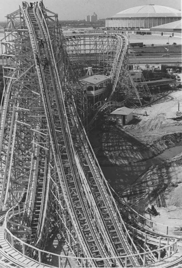 The Texas Cyclone Is Pictured On June 12 1976 Photo Houston Chronicle Houston History Historic Houston Astroworld Houston