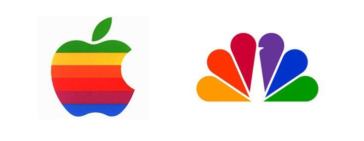 40 rainbow colored logo designs
