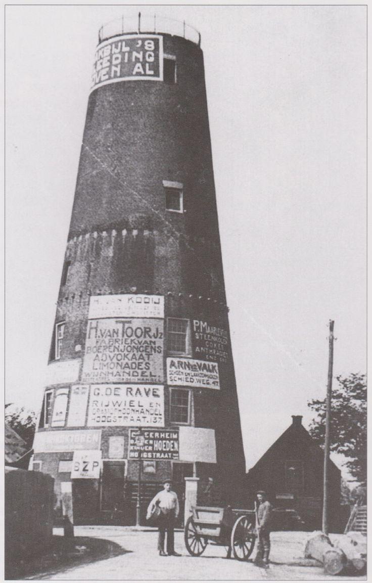 Van 1915 tot1956 was de molen Aeolus zonder wieken en balustrade gedegradeerd tot reclamezuil en uitkijkpunt. Hij had toen de bijnaam 'Peperbus'.