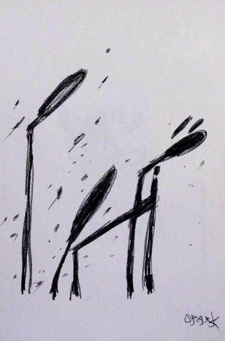 비오는 거리의 개 Rainy street dog