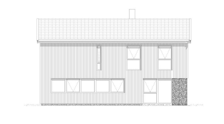 Fasade Dråpen - et kataloghus fra Norgeshus.