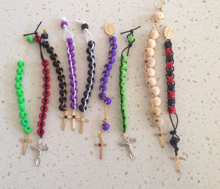 Some decade of the rosary beads, for the fair.