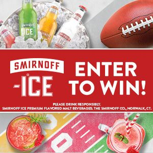 I just entered The Smirnoff Ice Big Game Sweepstakes for my chance to win a Football Party Package 11/30