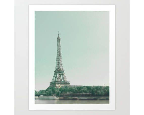 Paris photography wall art canvas art Paris print Paris, Eiffel tower, tour Eiffel, home decor, french decor, pastel, blue, mint, Caroline Mint, french home decor, vintage, travel