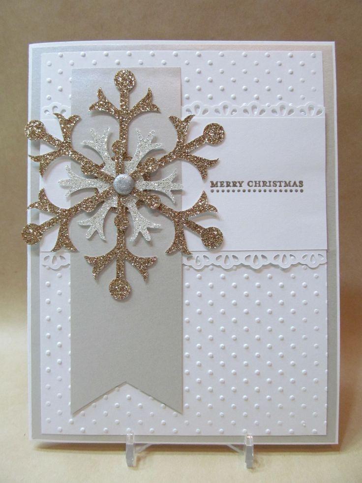 Handmade+Cards+Christmas+Cards | Savvy Handmade Cards: Snowflake Merry Christmas Card