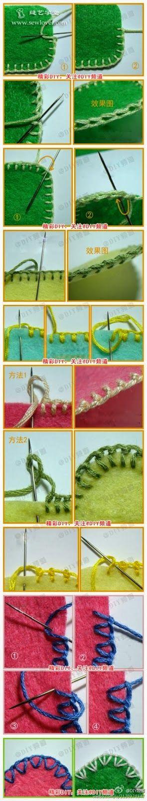 nural-ca herşey: açıklamalı resimli keçe kenarı dikim örnekleri