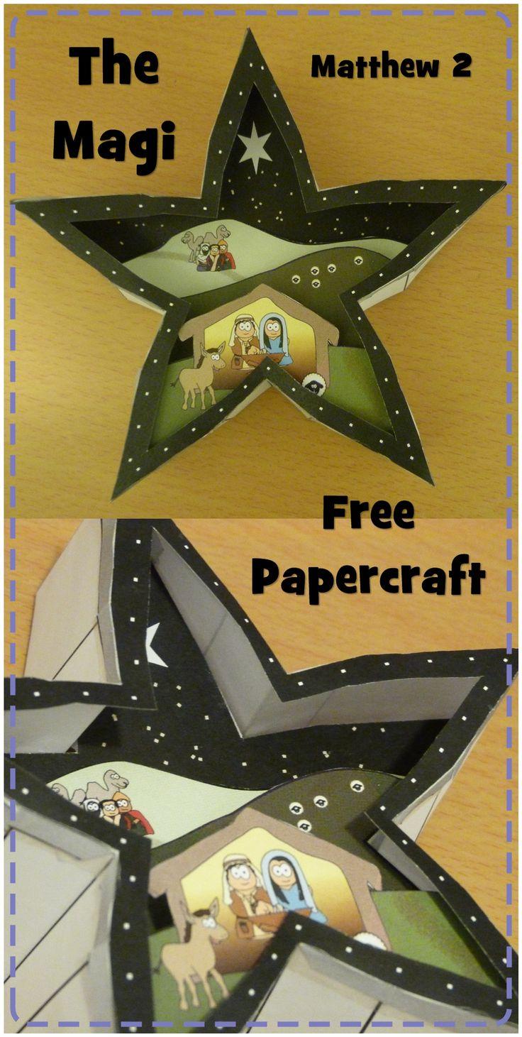 Magi, Wise man, Star paper craft. #Jesuswithoutlanguage