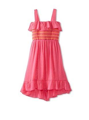 60% OFF Amy Byer Girls 7-16 Smocked Dress (Pink)