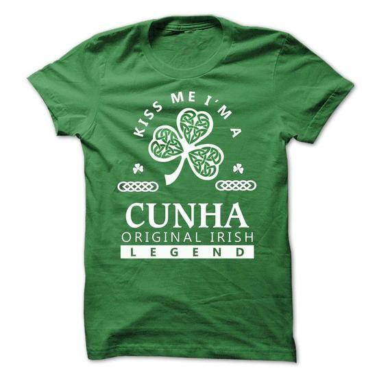 CUNHA - St. Patricks day Team - #wedding gift #housewarming gift. CHEAP PRICE => https://www.sunfrog.com/Valentines/-CUNHA--St-Patricks-day-Team.html?68278