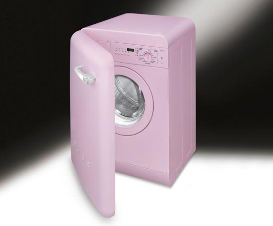 Pink retro washing machine for the home pinterest - Pink smeg washing machine ...