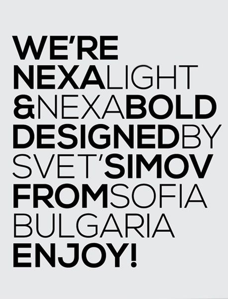 Nexa Slab is a free geometric Slab Serif font.I like this because of the heavy and thin weights work beautifully together