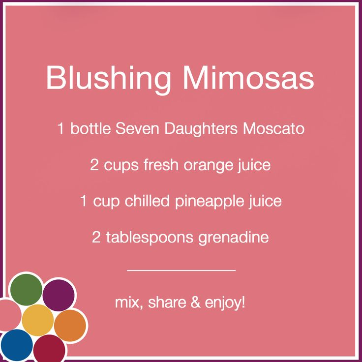 Blushing Mimosas are perfect for brunch.