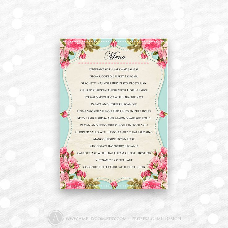 The 25+ best DIY menu cards template ideas on Pinterest DIY - menu templates for word